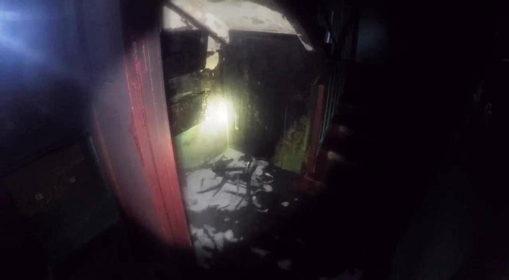 Пожар в подъезде по Фабричной в г. Барановичи