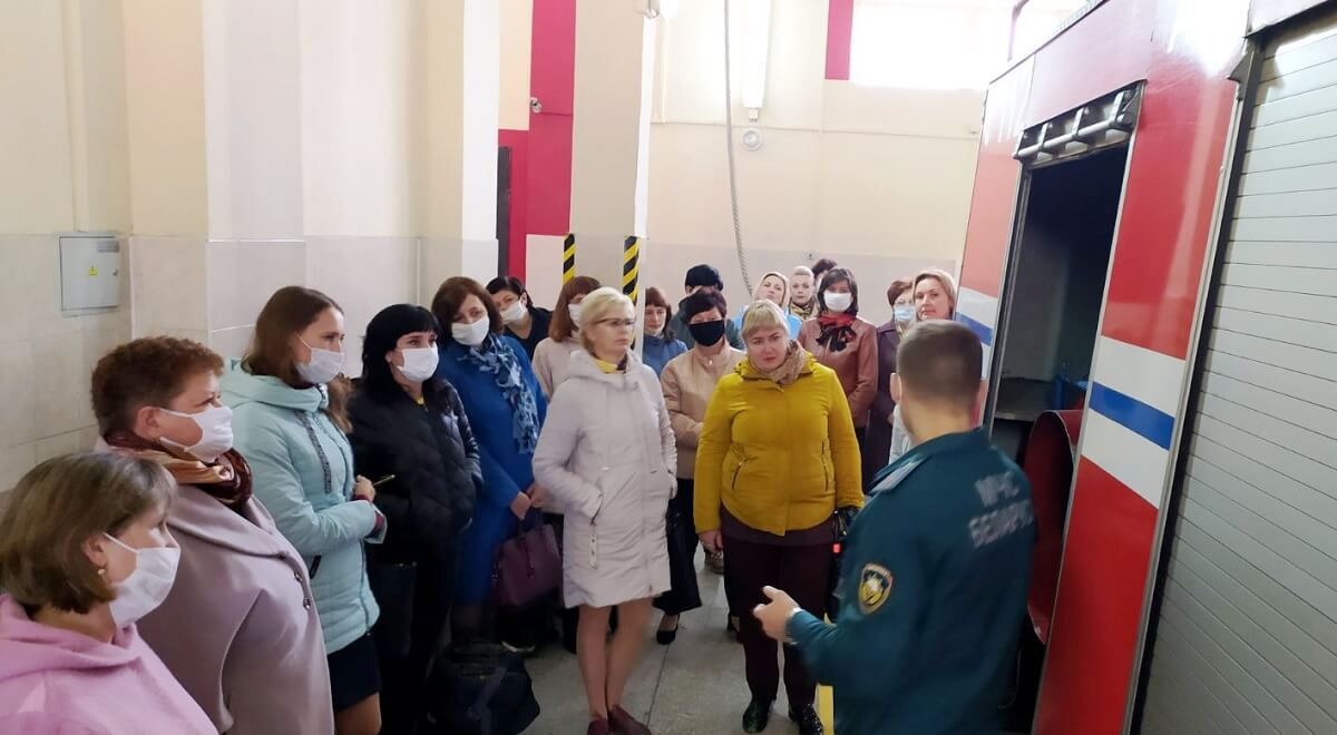 Экскурсия в ПАСЧ1 МЧС Барановичи