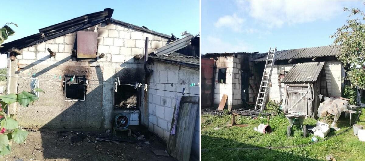 Пожар в д. Микуличи Барановичского района