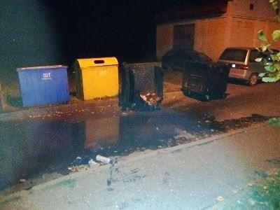 Пожар мусорный контейнер Барановичи