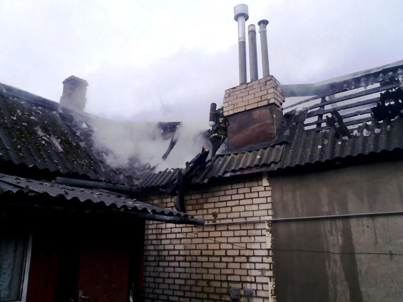 Пожар ул.Клецкая г. Барановичи