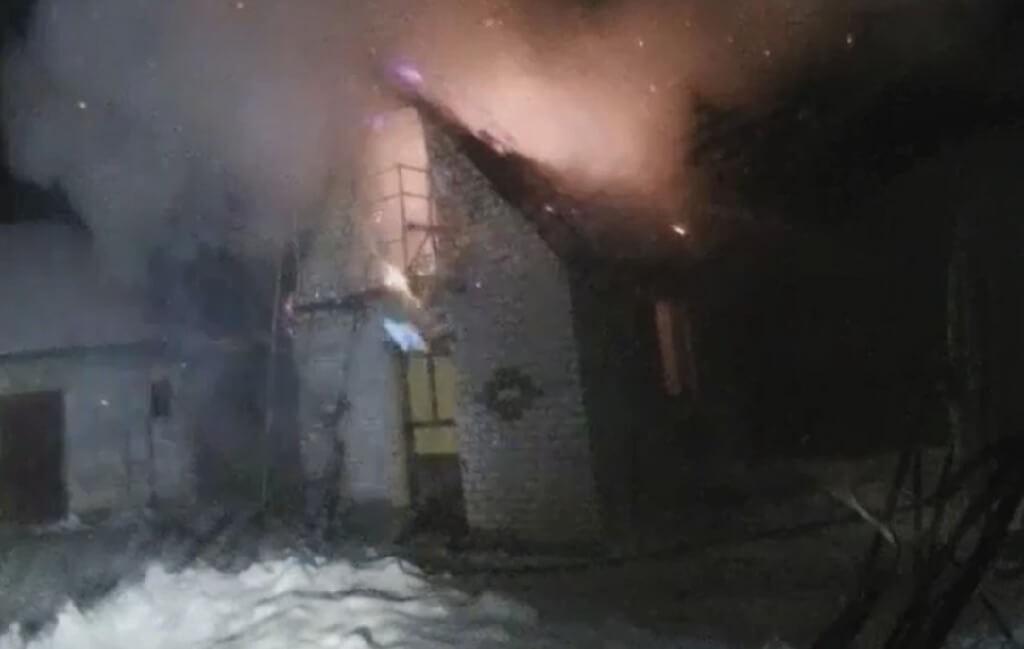 Пожар в д. Карчево Барановичи