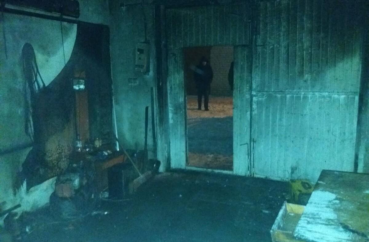 Пожар в Гараже по Уборевича Барановичи
