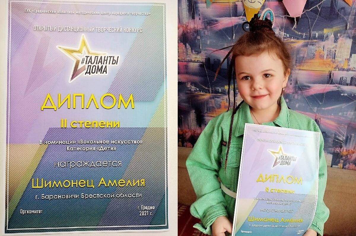 Открытый дистанционный творческий конкурс ТАЛАНТЫДОМА Барановичи